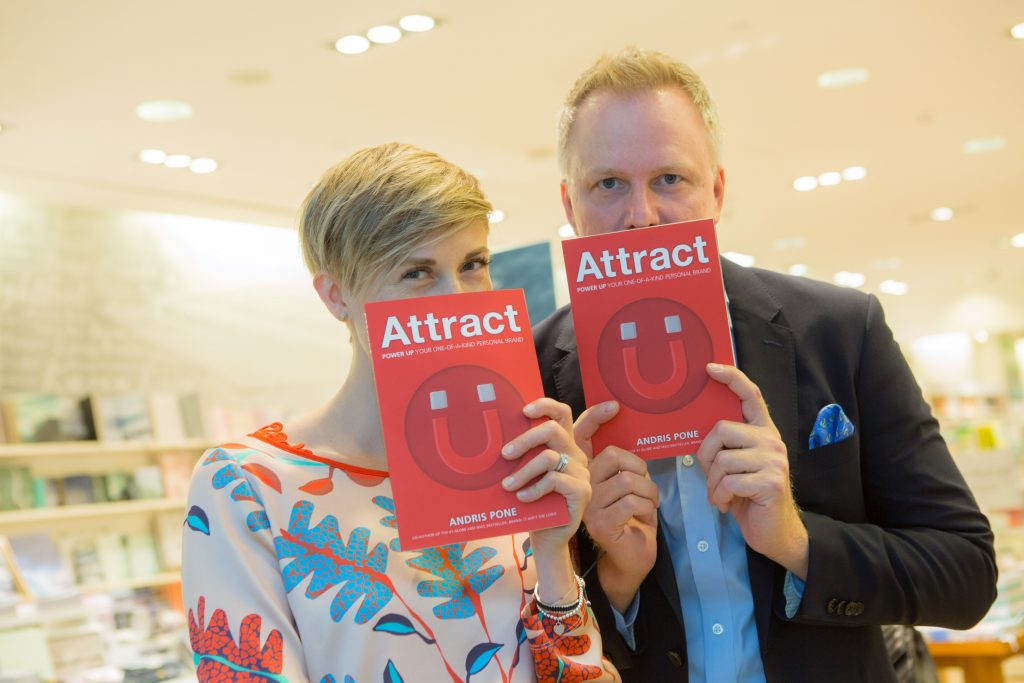Attract author Andris Pone and Jennifer Lomax of Strataline