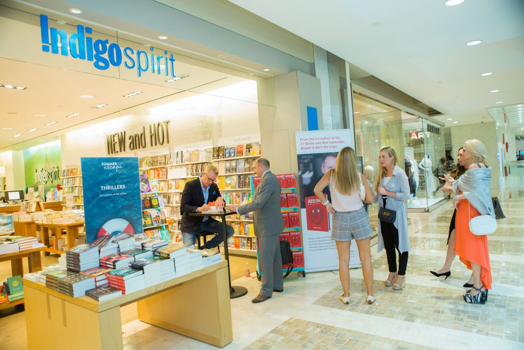 Attract book signing at Indigo First Canadian Place