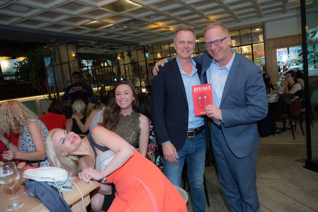 Attract author Andris Pone with Marnie Grundman, Marnie Kay and David Finley